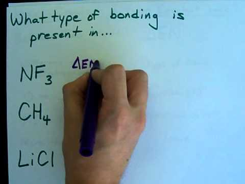 Is it an Ionic, Covalent or Polar Covalent Bond? - YouTube