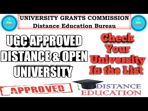 UGC APPROVED DISTANCE & OPEN UNIVERSITY List 2018 || Check Your University Name in the List 🔥🔥🔥