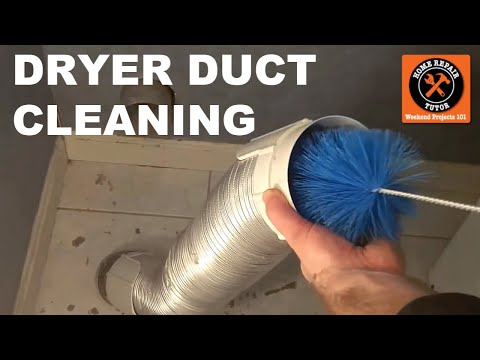 Clean Lint From Your Dryer Part 2 - How to Clean Dryer Ducts