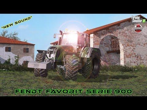 FENDT FAVORIT SERIE 900 NEW SOUND | FARMING SIMULATOR 17 - ALEX FARMER