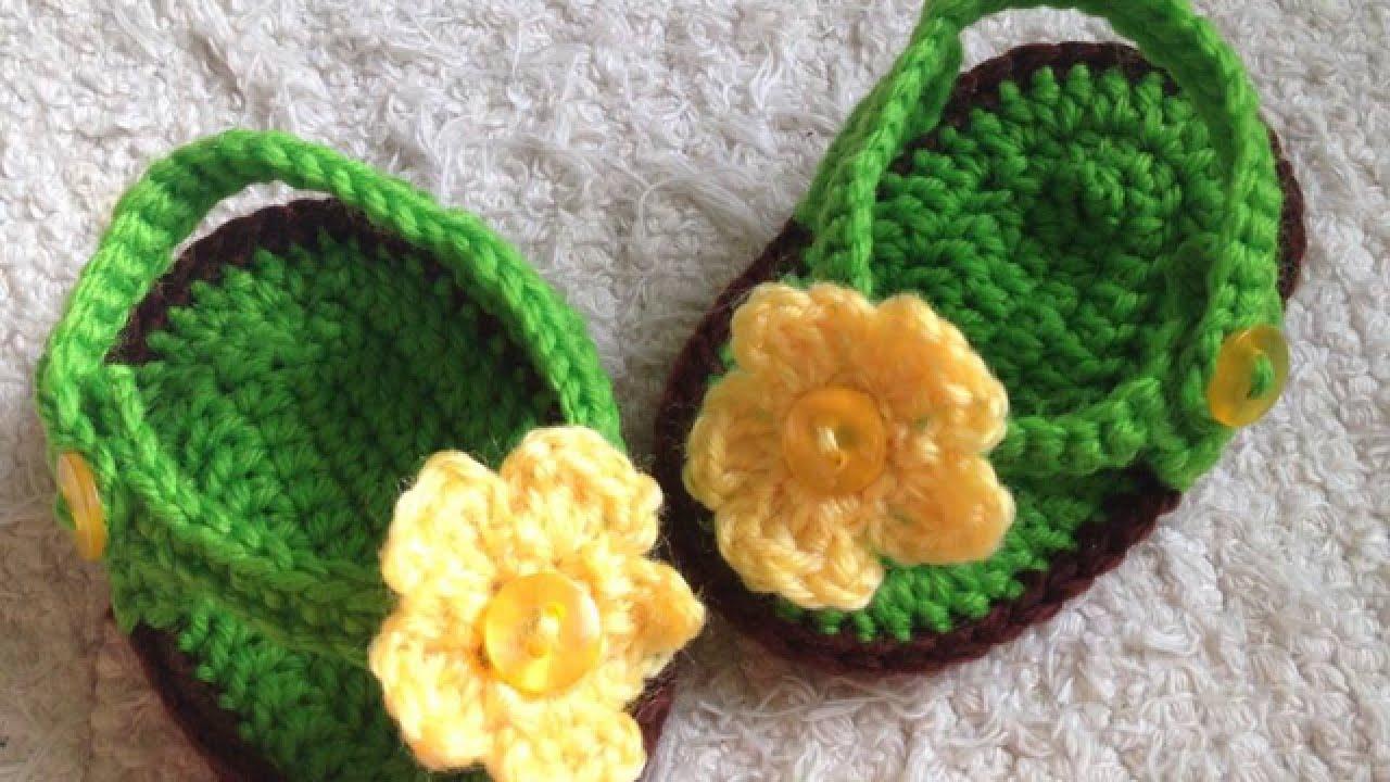 653ce095a How To Crochet Cute Baby Flip Flops - DIY Crafts Tutorial ...