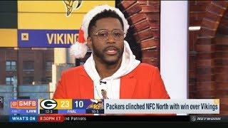 GMFB | Nate Burleson IMPRESSED by Packers def. Vikings 23-10; Aaron Rodgers: 26-40, 216 Yds