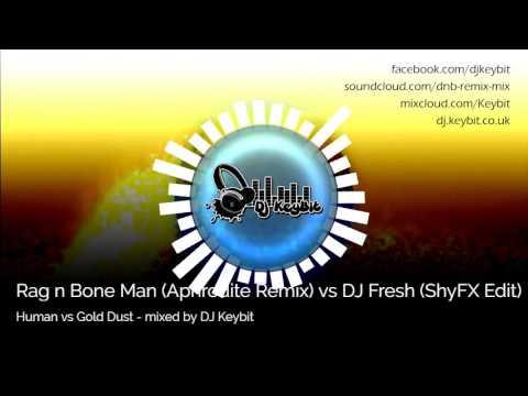 Rag N Bone Man (Aphrodite Remix) Vs DJ Fresh (ShyFX Edit) - Human Vs Gold Dust - Mixed By DJ Keybit