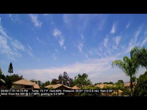 Chino Hills Time-Lapse 5/30/17