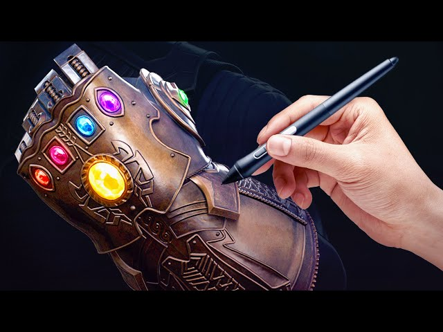 Sculpting the INFINITY GAUNTLET [Satisfying Time-Lapse]