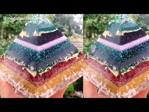 Epoxy Resin Art: Our new Pyramid Silicone Mould, Epoxy Resin and Glitter- Just4youonlineUK