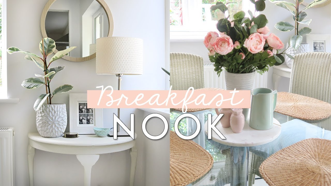 Breakfast Nook and Laundry room Transformation | Home Makeover Ideas ...