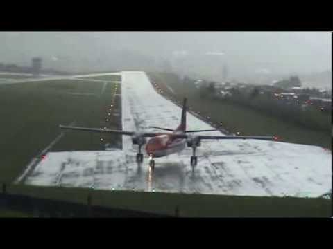 Landings and takeoffs in la nubia airport at Manizales Colombia
