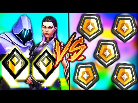 Valorant: 2 Radiants VS 5 Gold Players..! - Who Wins?