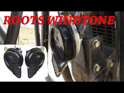 Roots Windtone 75 Skoda Type Horn for Bike & Car on Honda Unicorn with 4 point Relay