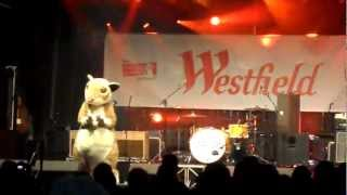 Humphrey the dancing hamster at Merry Hill light switch on 2012