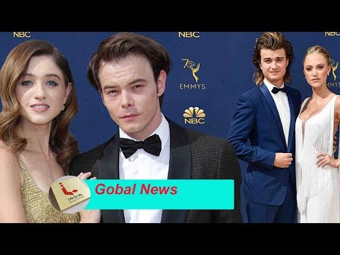 Fans found love in the pair Natalia Dyer and Charlie Heaton as they hugged together at Emmy Awards