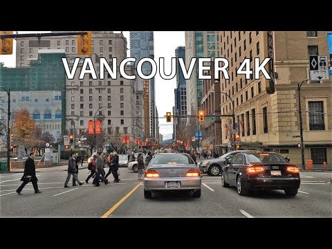 Driving Downtown - Vancouver Canada 4K