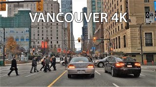Driving Downtown - Vancouver 4K - Canada