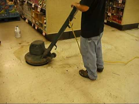 Stripping And Waxing Vct Tile Floor Youtube