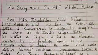 An essay about Abdul Kalam