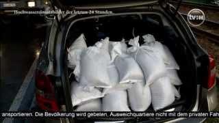 Hochwasser in Halle: Hunderte Helfer kämpfen um die Deiche ...Teil 1