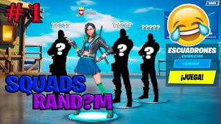 Coches y Kung fu Panda | Squads Random Fortnite #1