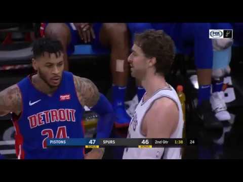 Pau Gasol vs Pistons (4 - 12 - 2017)