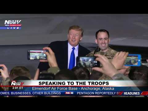 SURPRISE! President Trump Surprises The Troops In Alaska