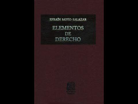 Elementos De Derecho Efrain Moto Salazar Ebook