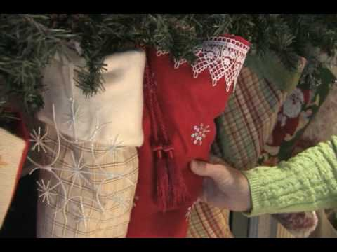 Make your own Christmas stockings. - YouTube