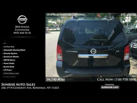 Used 2010 Nissan Pathfinder | Sunrise Auto Sales, Rosedale, NY