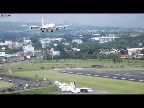 Airbus A340 642 Iberia Aproximacion Visual Pista 25 En Aeropuerto Juan Santamaria Intl. (SJO/MROC)
