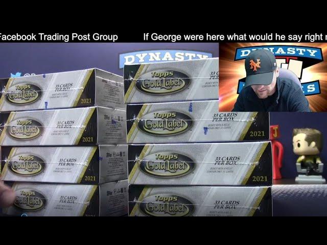 2021 Topps Gold Label Baseball Card 16 Box Case Break #3   Sports Cards