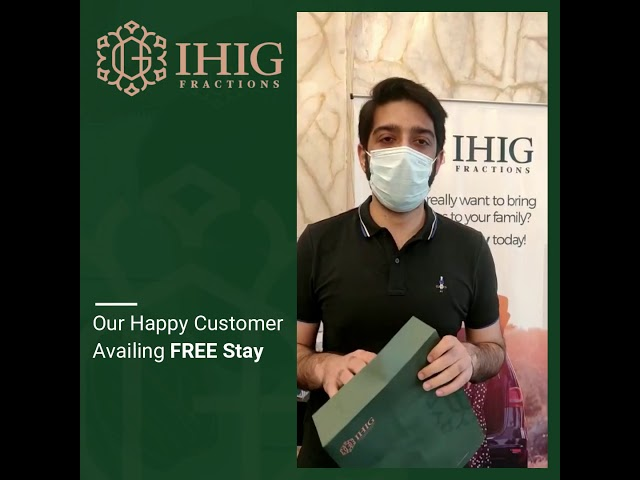 IHIG Fraction's customer all set to enjoy his 2 Nights Free stay with us. :D