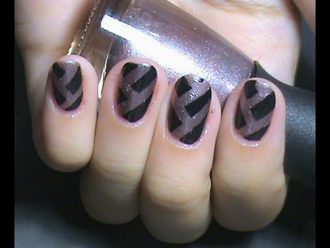 Simple And Easy Nail Art Using Sticky Tape Youtube