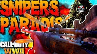 SMG Gameplay On The Biggest COD WW2 Sniping Map?! Call Of Duty World War 2 Grease Gun Multiplayer !