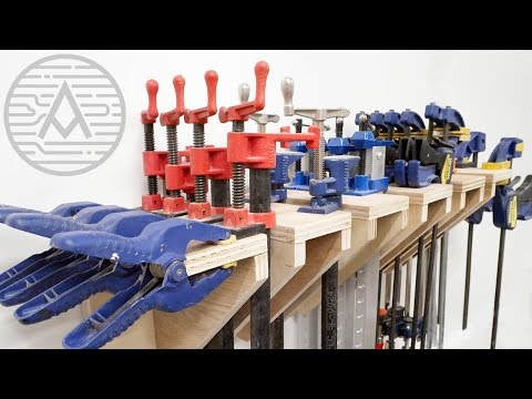 Building A Universal Clamp Rack -- Woodworking