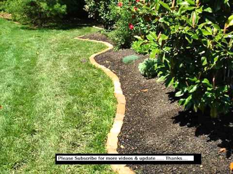 Landscape Edging Stone | Pics Of Garden Bed Edging - Landscape Edging Stone Pics Of Garden Bed Edging - YouTube