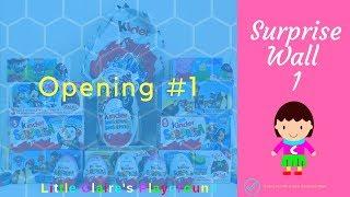 Opening Surprises #1 - Kinder Eggs, Peppa Pig