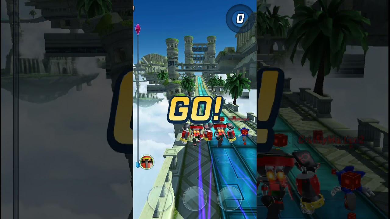 Sanic Y Sus Amigos En El Super Dupi Juego De Movil Sonic Forces