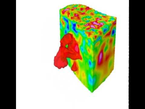 3D seismic slice revealing geobody.