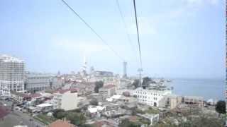 Батуми. Канатная дорога - Batumi cable car(16 августа в Батуми была открыта канатная дорога. Она соединяет морской порт и развлекательный центр