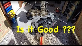 BMW E39 M54 Engine Checking. Head Bolts And Replacing Oil Pan And Oil Filter Housing Gasket