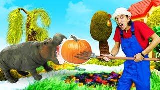 Супер Крылья - видео про игрушки. Время быть героем на ферме! Супер Джетт спасает животных!