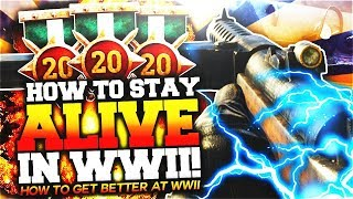 HOW TO STAY ALIVE IN WWII? NEVER DIE AGAIN! (COD WW2 TIPS AND TRICKS)