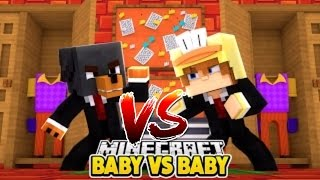 Minecraft Baby Hello Neighbor - BABY BOSS MAX Vs BABY BOSS DUCK - Little Club Modded mini game