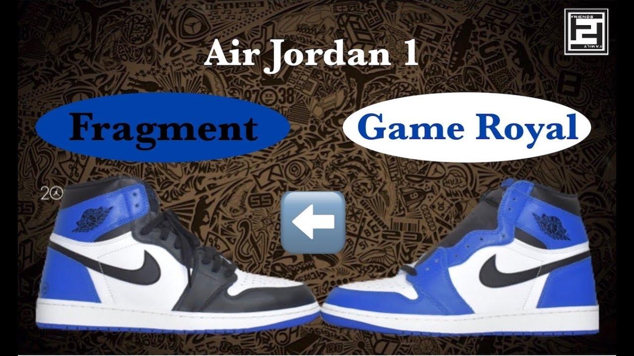 2baf6a47a4c Air Jordan 1 - Game Royal to Fragment Custom - YouTube