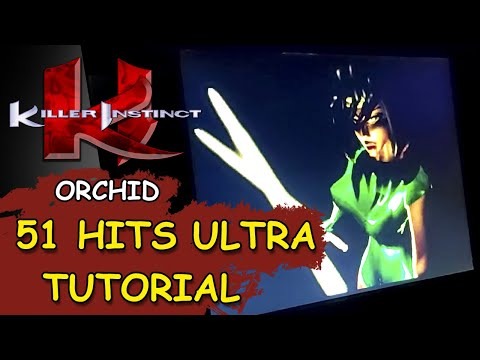 KILLER INSTINCT ARCADE1UP // Orchid 51 Hits ULTRA combo TUTORIAL from JDCgaming