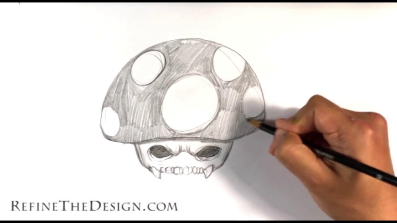 How To Draw A Mario Mushroom Skull Draw Tattoo Art