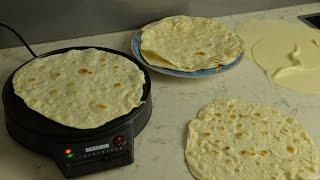 Wrap Fladen selber machen (Weizen Tortillas, Pfannenbrot)