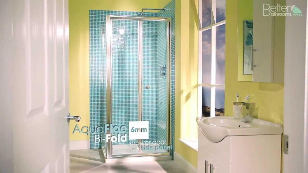 900 Bi Fold Shower Door Enclosure & Side Panel - YouTube