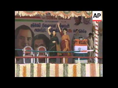 INDIA: SONIA GANDHI AGREES TO CAMPAIGN FOR CONGRESS PARTY