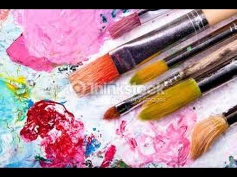 pincel con pintura. tecnica de uso del pincel para pintar flores - hogar tv por juan gonzalo angel con pintura