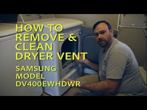 HOW TO REMOVE & CLEAN SAMSUNG CLOTHES DRYER VENT : JRBVIDS